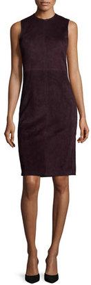 Theory Eano L Classic Suede Sheath Dress $975 thestylecure.com