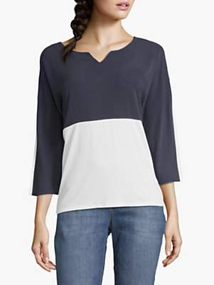 c16f5ea80ab83b Betty & Co. Two Tone Top, Blue/White