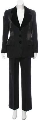 Gianfranco Ferre Iridescent Structured Pantsuit