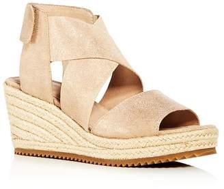 630a53f4b Eileen Fisher Women's Willow Nubuck Leather Platform Espadrille Sandals