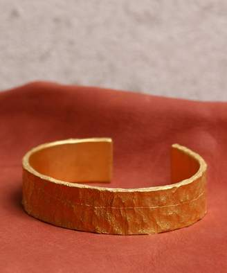 A Lounge Gild Frosted coat texture wide bangle G162BR02
