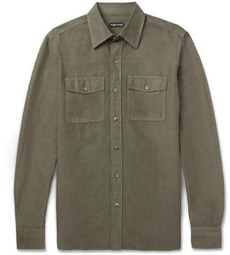 Tom Ford Linen And Cotton-Blend Shirt