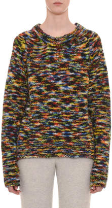Missoni Crewneck Long-Sleeve Wool-Blend Sweater