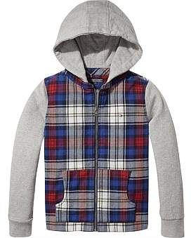 Tommy Hilfiger Hooded Check Mix Shirt L/S