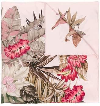 Salvatore Ferragamo palm tree print scarf