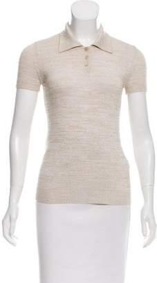 Dolce & Gabbana Heather Knit Short Sleeve Top