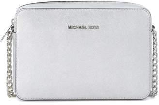 Michael Kors Jet Set Silver Leather Shoulder Bag