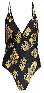 Hermanny ViX by Paula Women's Madalena Floral One-Piece Swimsuit