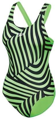 Speedo Girls School Colours Leaderback Swimsuit
