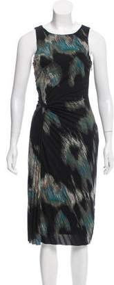 Halston Printed Sheath Dress