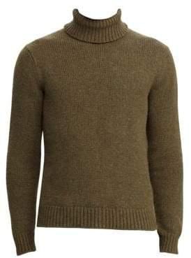 Ralph Lauren Purple Label Long-Sleeve Melange Turtleneck Sweater
