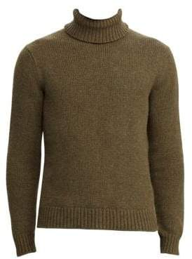 Ralph Lauren Purple Label Long-Sleeve Melange Turtleneck Sweater