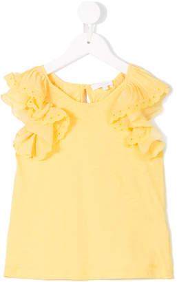 Chloé Kids ruffled sleeve blouse