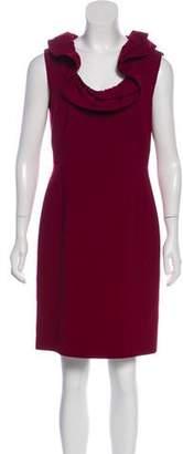 Oscar de la Renta Ruffle-Accented Mini Dress
