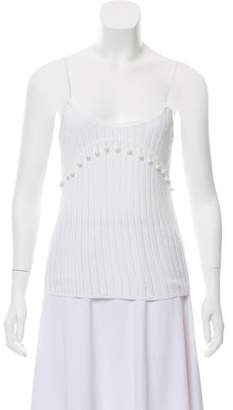 Chloé Sleeveless Rib Knit Top