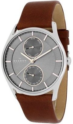 Skagen Holst Leather Chronograph Mens Watch SKW6086