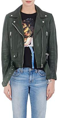 "Acne Studios Women's ""Mock"" Grained Leather Moto Jacket"
