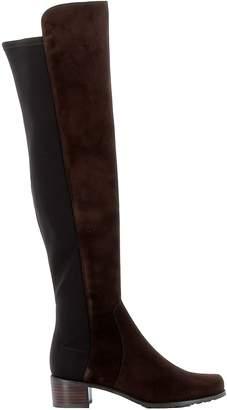 Stuart Weitzman Brown Suede/fabric Boots