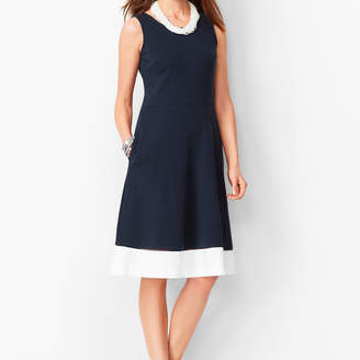 Talbots Edie Fit & Flare Dress - Colorblock