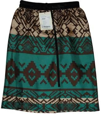 Stella Forest Green Silk Skirt for Women