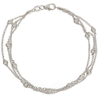 Neiman Marcus Diamonds 14k White Gold By-The-Yard Diamond Bracelet