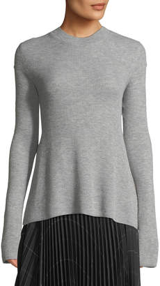 Vince Ribbed Cashmere Crewneck Sweater