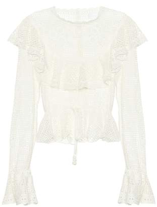 Zimmermann Castile crochet cotton top