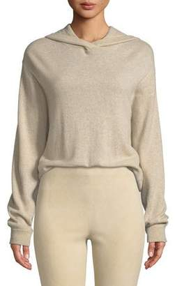 Vince Hooded Overlap Cashmere Sweater