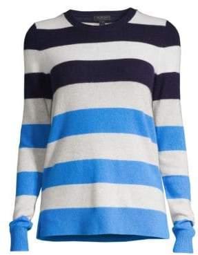 Saks Fifth Avenue Women's COLLECTION Multi-Stripe Cashmere Sweater - Sailor Blue - Size Large