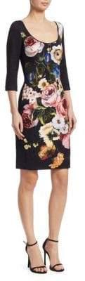 Naeem Khan Floral-Print Shift Dress