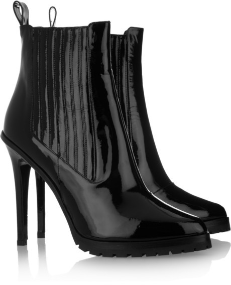 Karl Lagerfeld Gore patent-leather ankle boots