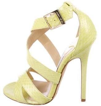 Jimmy Choo Snakeskin Crossover Sandals