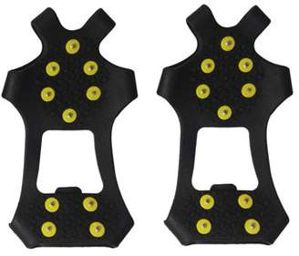 ICOCO Anti-slip Shoes Cover 10-Stud Universal Outdoor Ice Crampon Safety Tool