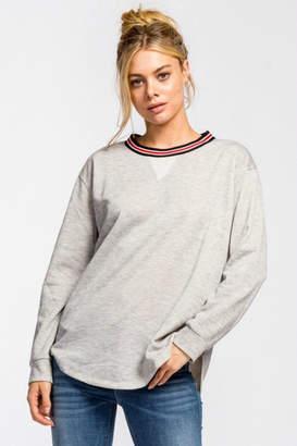 Cherish Banded Collar Sweatshirt
