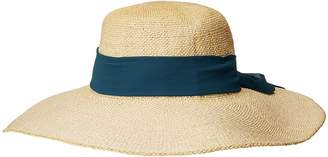 San Diego Hat Company PBL3096OS Woven Paper Floppy w/ Scarf Bow Trim Caps