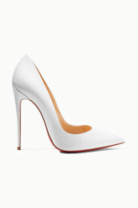 Christian Louboutin So Kate 120 Patent-leather Pumps - White
