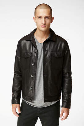 Acamar Jacket In Black Leather