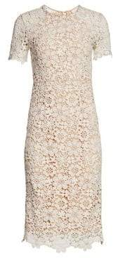 Shoshanna Women's Guipure Lace Midi Dress - Ivory - Size 6