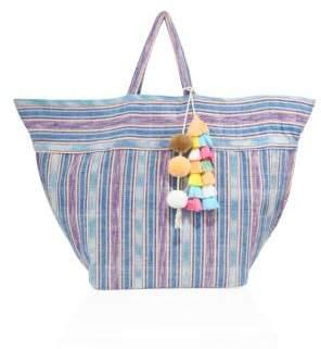 JADEtribe Large Samui Stripe Beach Bag