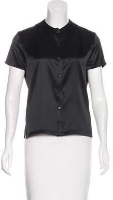 Calvin Klein Collection Collared Button-Up Top