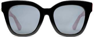 Gucci Specialized fit oversize cat eye acetate sunglasses