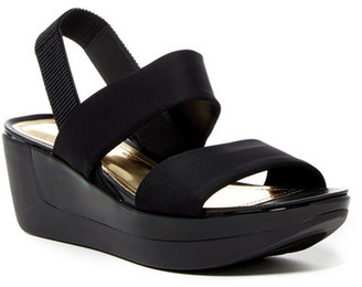 Kenneth Cole Reaction Pepea Pot Platform Wedge Sandal $59 thestylecure.com
