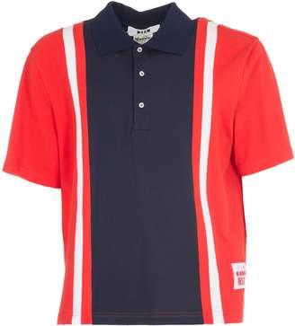 MSGM Color Block Polo Shirt