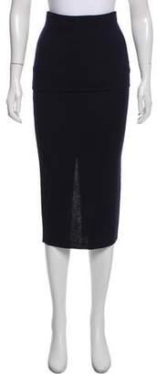 Donna Karan Wool-Blend Midi Skirt