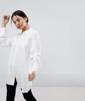 Noisy May Adjustable Sleeve Length Oversized Shirt