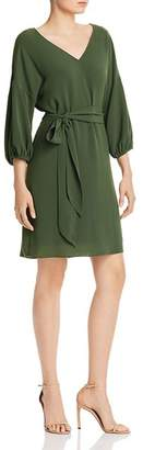 Adrianna Papell Belted Crepe Shift Dress