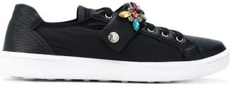 Car Shoe jewel strap trainers