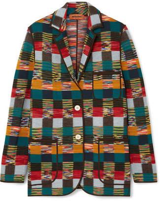 Missoni Checked Wool Blazer - Red