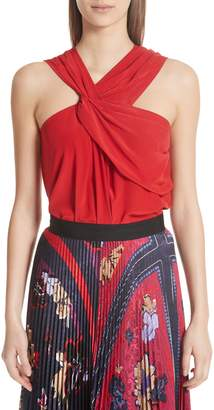 Yigal Azrouel Drapey Silk Tank Top