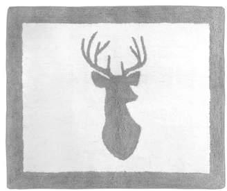 JoJo Designs Sweet Gray & White Woodland Deer Rug (2'x3') - Sweet